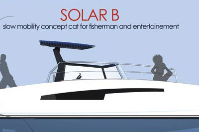 Solar B, slow mobility concept cat for fisherman and entertainement